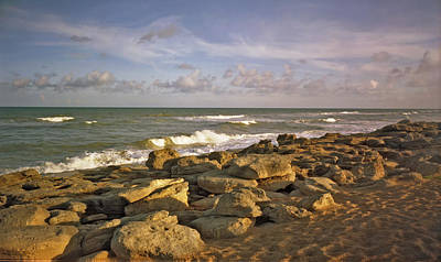 Photograph - The Rocks IIi. Flagler County. by Chris  Kusik