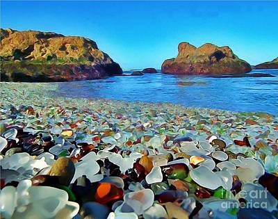 Glass Beach In Cali Art Print