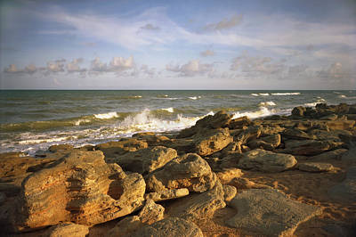 Photograph - The Rocks Iv. Flagler County. by Chris  Kusik