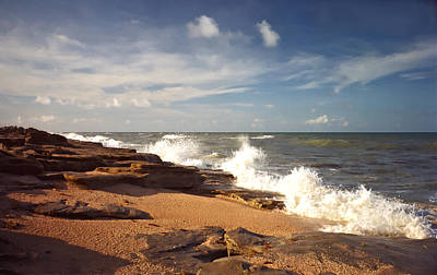 Photograph - The Rocks Ix. Flagler County. by Chris  Kusik