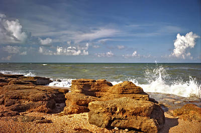 Photograph - The Rocks Viii. Flagler County. by Chris  Kusik