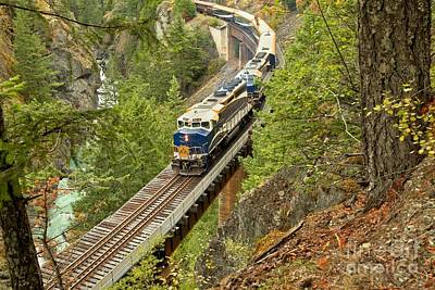 Photograph - The Rocky Mountaineer Above The Cheakamus River by Adam Jewell