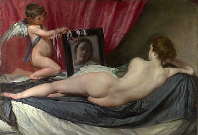 Diego Velazquez Painting - The Rokeby Venus by Diego Velazquez