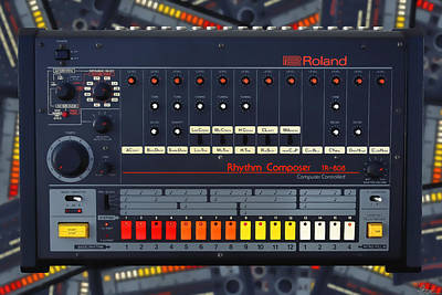 Photograph - The Roland Tr-808 Rhythm Composer Drum Machine by Gordon Dean II