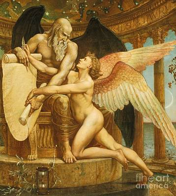 Literature Painting - The Roll Of Fate by Walter Crane