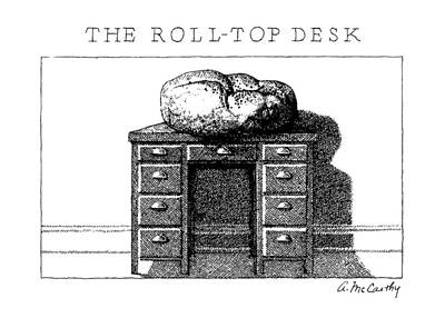 Desk Top Drawing - The Roll-top Desk by Ann McCarthy