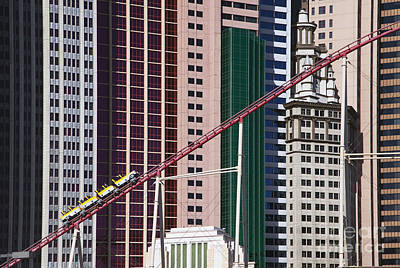Tropicana Las Vegas Photograph - The Roller Coaster Las Vegas Nevada by Patrick McGill