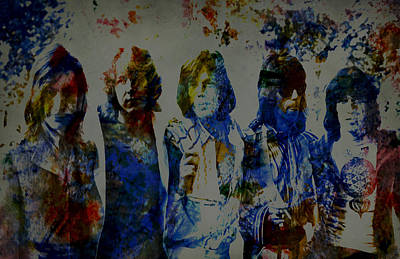 Mick Jagger And Keith Richards Digital Art - The Rolling Stones 1970s by Brian Reaves