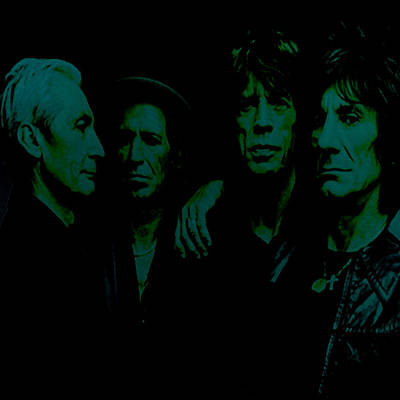 Mick Jagger And Keith Richards Digital Art - The Rolling Stones 2b by Brian Reaves