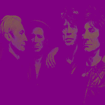 Mick Jagger And Keith Richards Digital Art - The Rolling Stones 3a by Brian Reaves