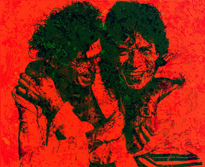 Mick Jagger And Keith Richards Digital Art - The Rolling Stones 4e by Brian Reaves