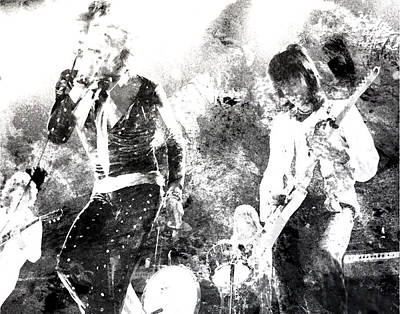 Mick Jagger And Keith Richards Digital Art - The Rolling Stones by Brian Reaves