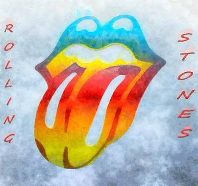 Musicians Mixed Media - The Rolling Stones by Dan Sproul