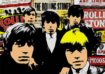 Mick Jagger And Keith Richards Digital Art - The Rolling Stones by GR Cotler