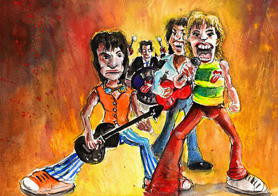 Music Paintings - The Rolling Stones in Spain by Miki De Goodaboom