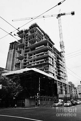 the rolston new condo project granville street Vancouver BC Canada Print by Joe Fox