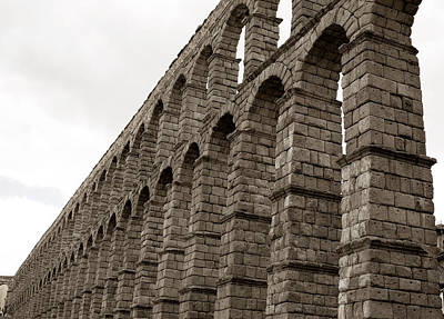 Photograph - The Roman Aqueduct Of Segovia by Lorraine Devon Wilke