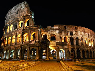 Red Roses - The Roman Coliseum by Rae Tucker
