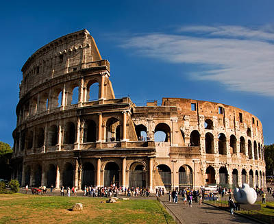 Photograph - The Roman Colosseum by Weston Westmoreland