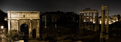 Photograph - The Roman Forum At Night by Weston Westmoreland