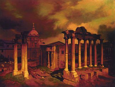 The Roman Forum Art Print by Blue Sky