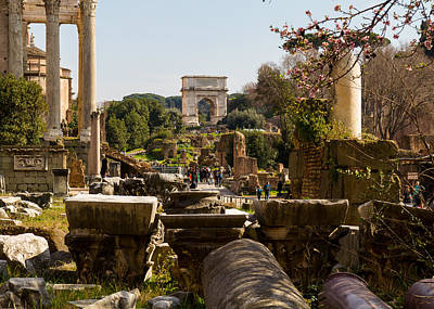 Temple Of Castor And Pollux Photograph - The Roman Forum  by Tim Fitzwater
