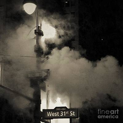 Photograph - The Romance Of The Night - N Y C Steam by Miriam Danar
