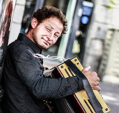 Photograph - The Romanian Accordeonist by Stwayne Keubrick