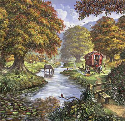 The Romany Camp Art Print by Steve Crisp