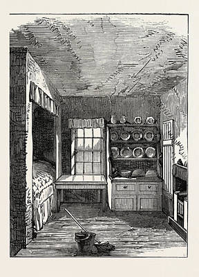 Historic Home Drawing - The Room In Which Livingstone Was Born, Blantyre by English School