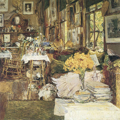 The Room Of Flowers Art Print by Childe Hassam