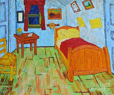 Painting - The Room Of Vincent Van Gogh Interpretation by Patricia Awapara