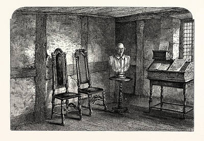 Stratford Drawing - The Room Where Shakespeare Was Born, Stratford Upon Avon by English School