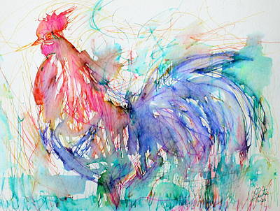 The Rooster Art Print by Fabrizio Cassetta