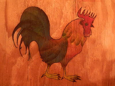 Painting - the Rooster by George Pedro