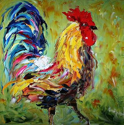 The Rooster Art Print by Karen Tarlton