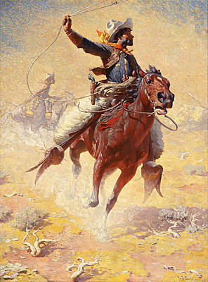 Roping Painting - The Roping by William Robinson Leigh