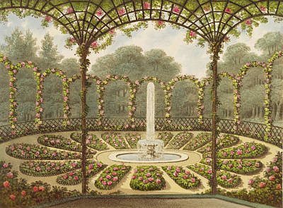 The Rosary At Ashridge Print by English School