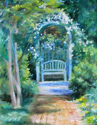 Loose Painting - The Rose Arbor- At Wharton Gardens by Bonnie Mason
