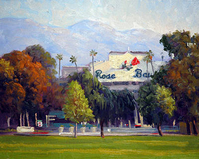 Gabriel Painting - The Rose Bowl by Armand Cabrera