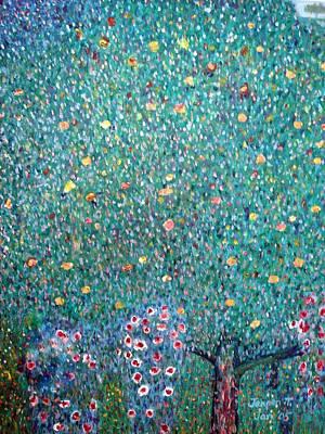 The Rose Bushes  Art Print by Janpen Sherwood