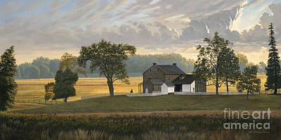 Pennsylvania Farm Painting - The Rose Farm Gettysburg by David Henderson