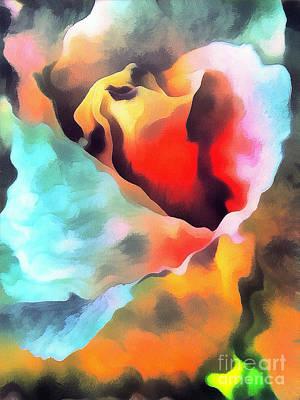 The Rose Flower Art Print by Odon Czintos