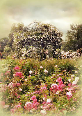 Photograph - The Rose Gazebo II by Jessica Jenney