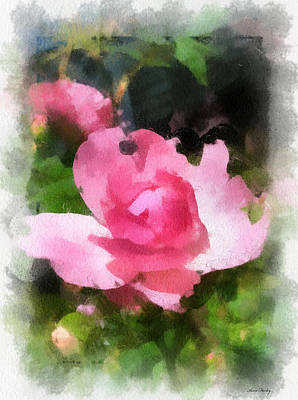 Print featuring the photograph The Rose by Kerri Farley