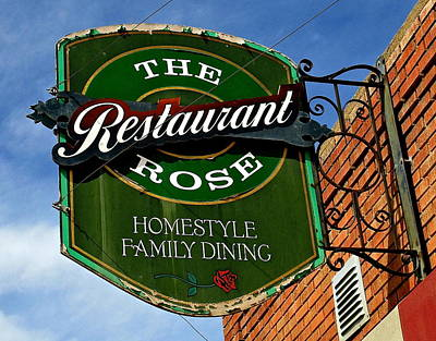 Photograph - The Rose Restaurant by Jeff Gater