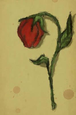 Digital Art - The Rose by Stephanie Hollingsworth