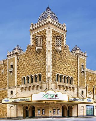 The Paramount Theatre Photograph - The Rose - Theater - Omaha Nebraska by Nikolyn McDonald