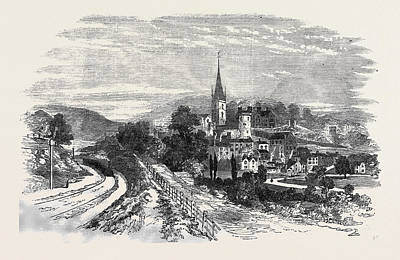 Art Ross Drawing - The Ross, Hereford, And Gloucester Railway by English School