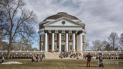 The University Of Virginia Rotunda Art Print by Terry Rowe